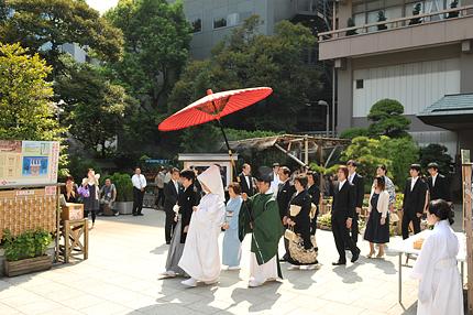 神前結婚式の式次第